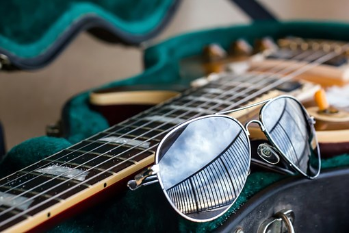 ElectricGuitar Case Sunglasses Stock001