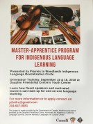 Master-ApprenticeProgramForIndigenousLanguageLearning_OrientationTraining_DauphinFriendshipCentre-YouthCentre_DauphinMB_
