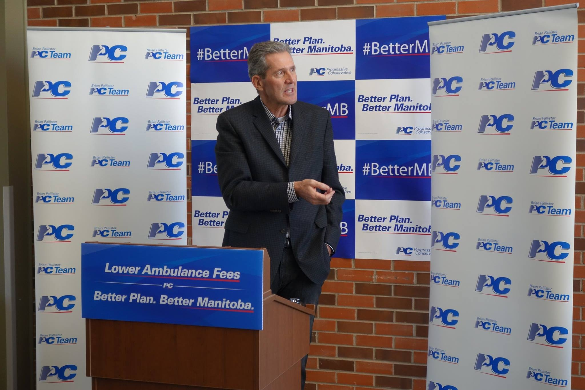 Brian Pallister at Dauphin rally on Friday